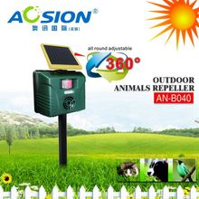 Aosion 2 year warranty BSCI garden yard motion activated ultrasonic solar raccoon chaser
