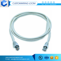 Factory price cat6 cat5e network cable with dual female connector