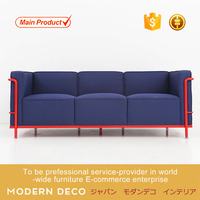 Newest Modern Design metal Office leather Sofa For Home