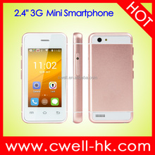 Unlocked Single SIM 2.4 Inch Touch Screen Mini Smartphone Melrose S9 Dual Core 3G Android Card Size Mobile Phone