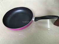 Pink color chefline cookware fry pan for gas cooker