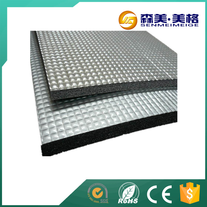 Heat insulating closed cell tanks insulation rubber foam sheet