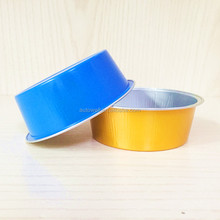 150ml Disposable Food Grade Smooth Wall Color Coated Aluminum Foil Container
