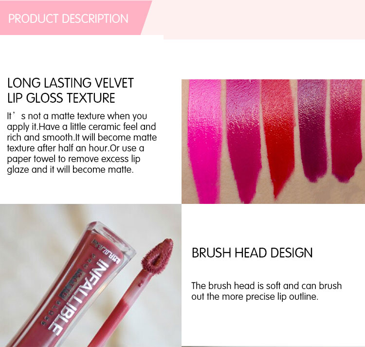 Wholesale Cosmetic Private Label Matte OEM Lip Gloss