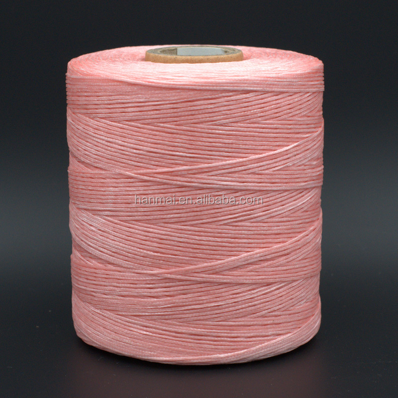 waxed polyester cord 1mm, waxed cord pink color