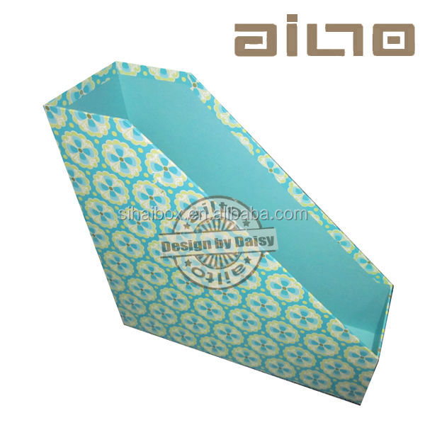 stationery endo vertical cardboard magazine file cabinet holder