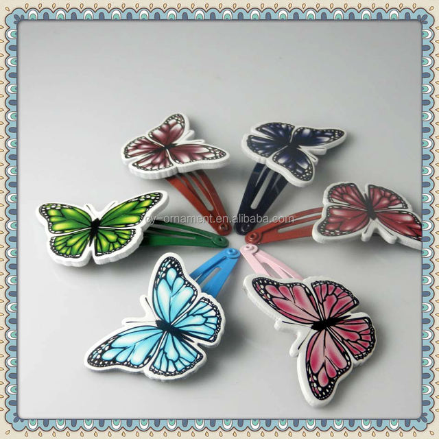colorful butterfly snap clips for kids
