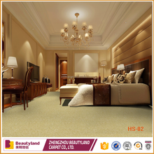 Luxury shaggy wall to wall carpet for hotel or home use