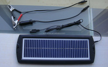 Solar Battery Charger with Blue Flashing Charging LED indicator