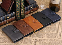 new arrival high quality retro leather wallet case for Samsung galaxy note 4
