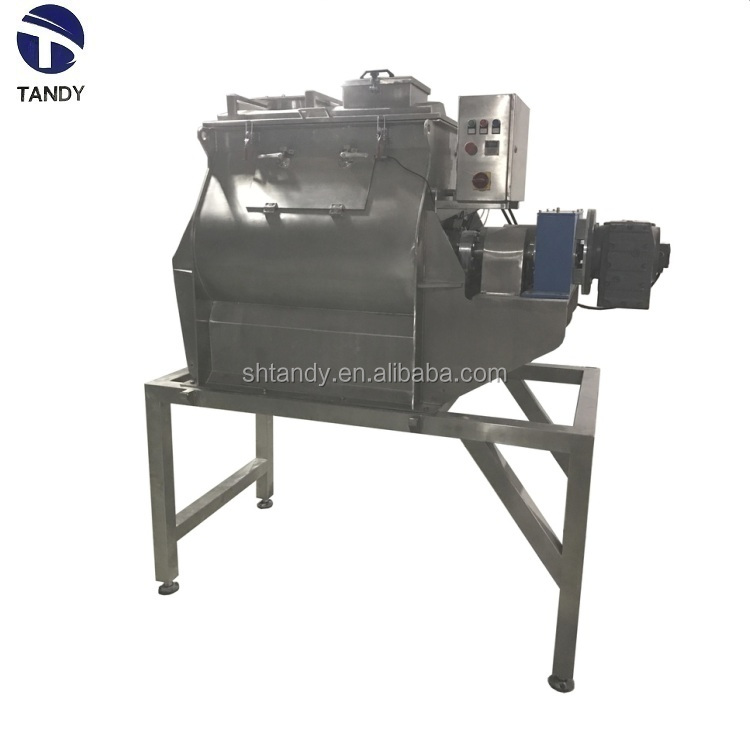 Industrial  wheat flour rice twin axial  paddle mixing machine
