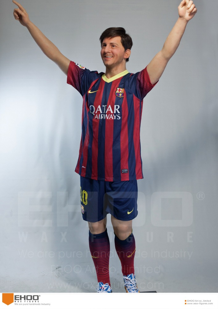Life Size Footballer Statue Lionel Messi Wax Figure
