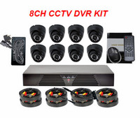 Night Vision Dome Cams 900TVL & H.264 DVR 8 Channel CCTV Camera System Wholesale