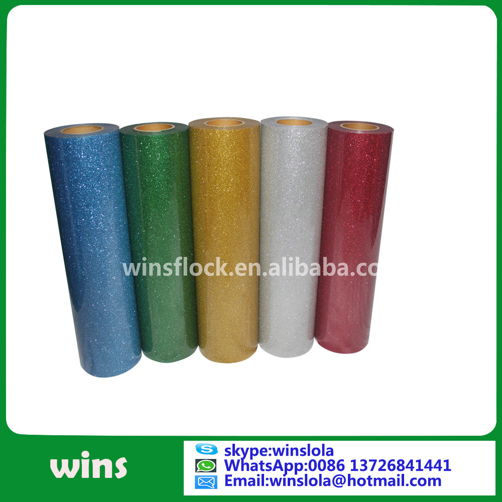 heat transfer vinyl cutting glitter flex for clothing