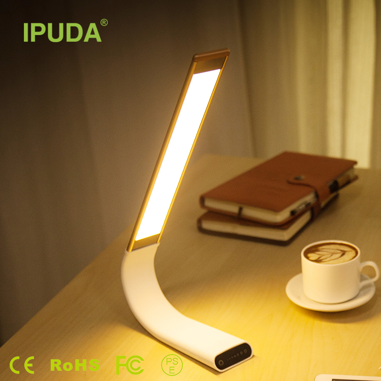 2016 Sensor Rechargeable Cordless Led Desk Table Lamp for kids reading