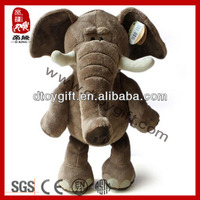 Wholesale jungle animal toys stuffed gray elephant toy soft toy elephant real doll plush animal elephant