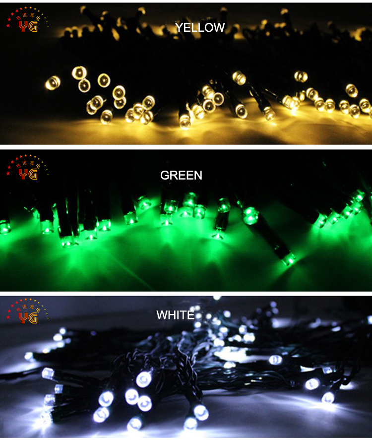 2017 hot solar powered led string light waterproof rgb garden UL lights for wedding decoration