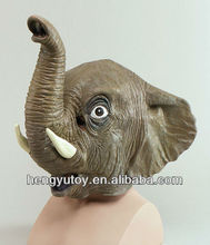 adult size Popular masquerade elephant statues rubber elephant mask