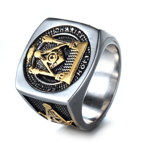 RI00128 Yiwu WT retro 316L stainless steel gift Jewellery, titanium steel business men ring wholesale