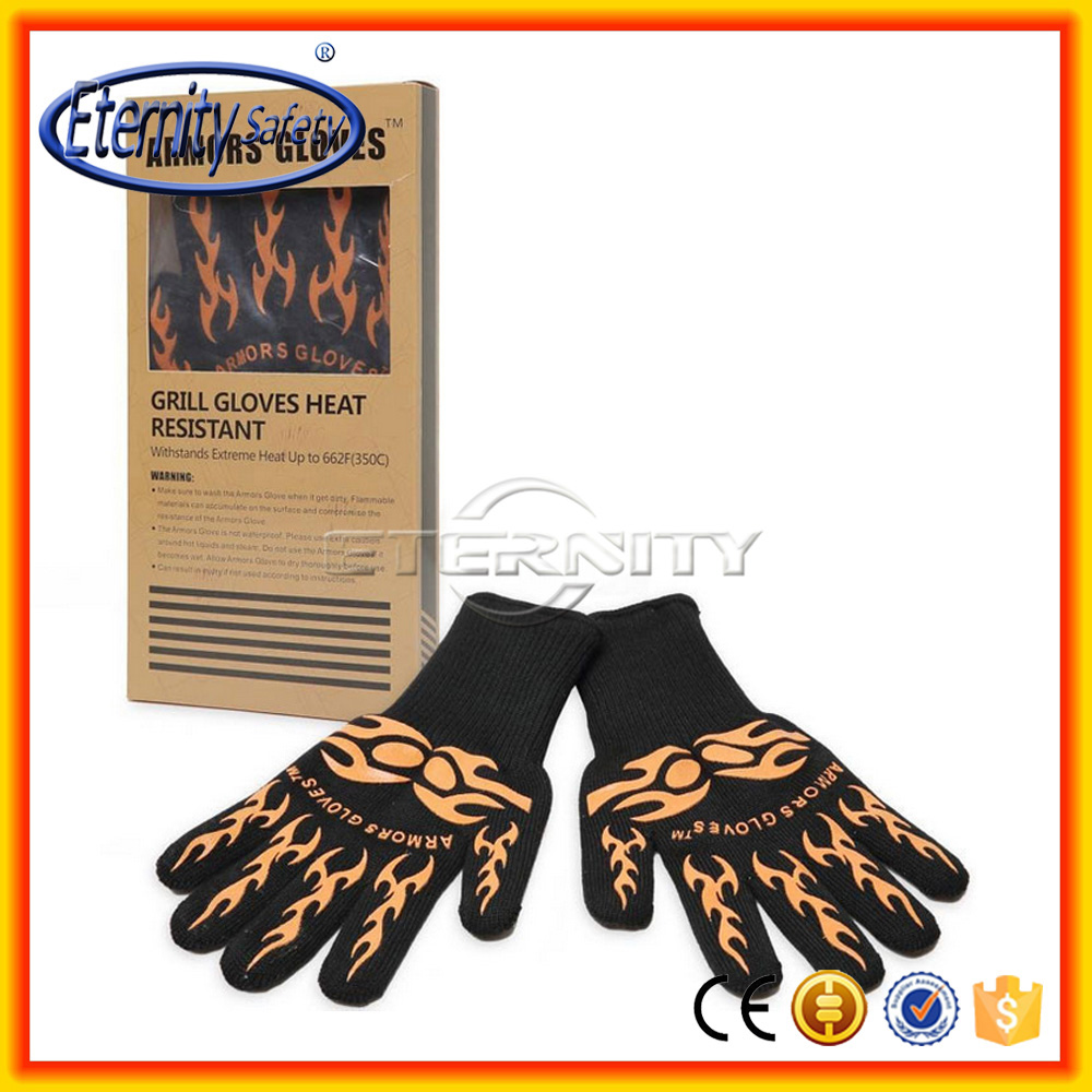 New fashion oven heat resistant cooking gloves