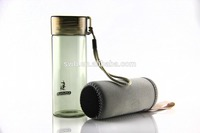 Wholesale borosilicate glass water bottle 270ML bulk outdoor travel sport bottle