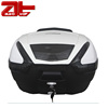 Hot Sale Black Storage Motorcycle Rear Luggage Box, 38L Motorcycle Top Case With White Cover