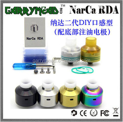2018 most popular 316SS Narca Rda great flavor black silver Ultem narca rda with BF pin Narca Atomizer narda rda stock Now!!