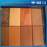 wooden solid color card ACP ACM wall cladding panel