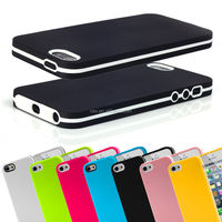 CANDY COLOR ULTRA SLIM TPU BUMPER CASE COVER FOR NEW iPHONE 5 5S 4 4S FREE SCREEN PROTECTOR