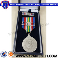 Brazil Pure silver military medal with leather gift box