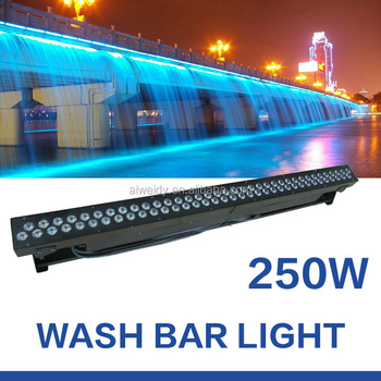Hot sale lighting 72x3W outdoor led wall washer aluminum housing led light bar