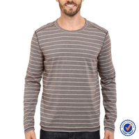 custom wholesale rugby stripe layout long sleeve t shirt for good market