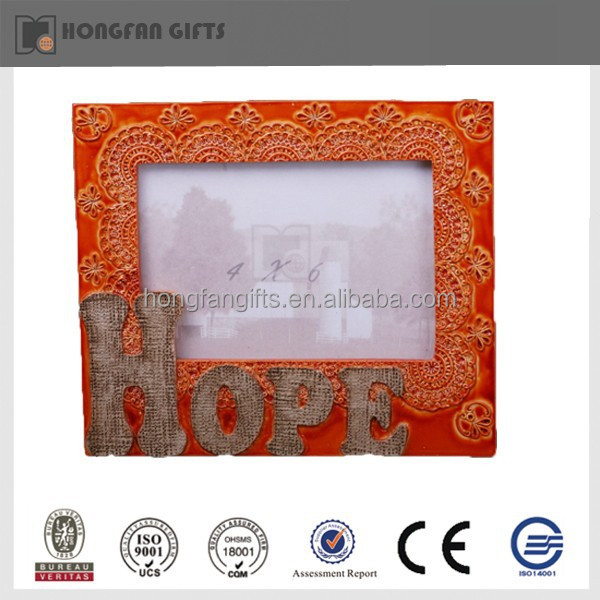 cheap colorful poly resin photo frame