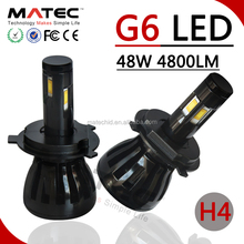 G6 LED Headlights, MATEC Factory Patented Design H4 40w 48w LED 4 Side H7 H11 H13 H7 H4 Car LED Headlight