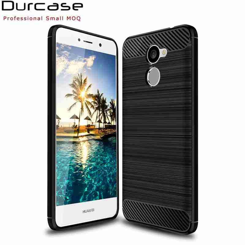 Cutom Shockproof Carbon Fiber Matte Silicone Tpu Rubber Cell Phone Case Cover For HUAWEI Y7 Prime
