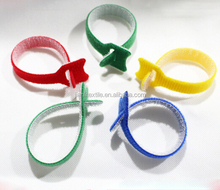 Cable organizer double side hook and loop cable ties with logo printing