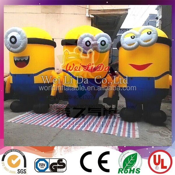 Giant cute minions cartoon model decorating inflatable cartoon characters