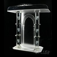 GUIHEYUN glass church pulpit logo design nobility elegant high quality lectern