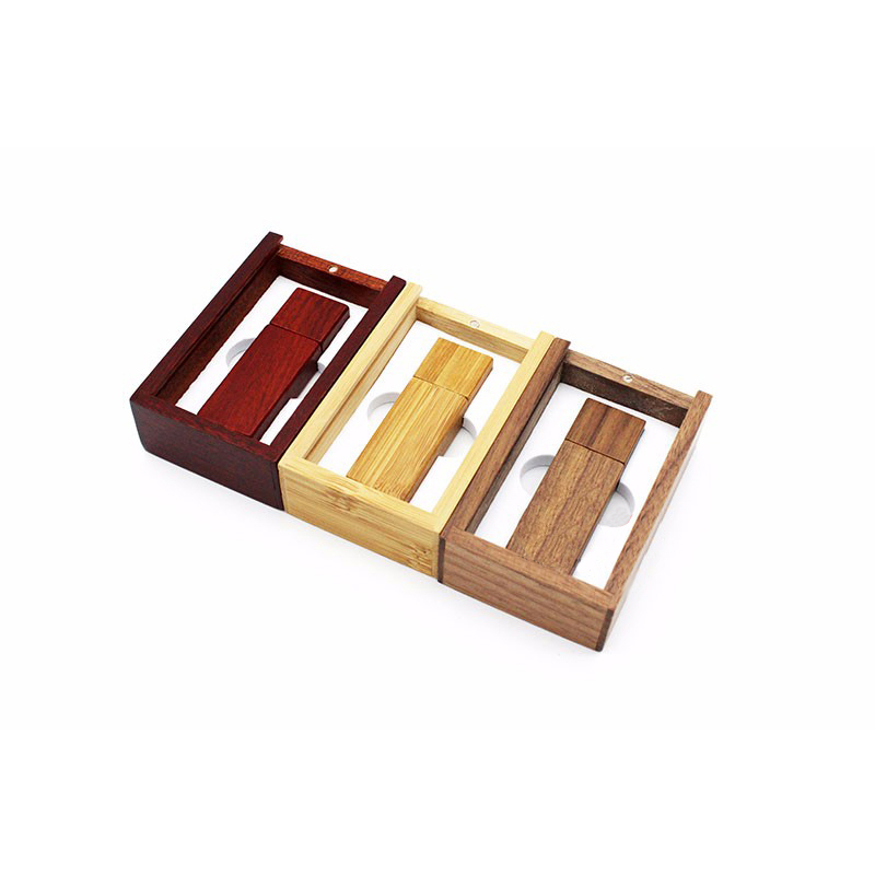 New Product  Free Sample 8GB  USB Sliding Lid Wood Flash Wood USB Flash Drive