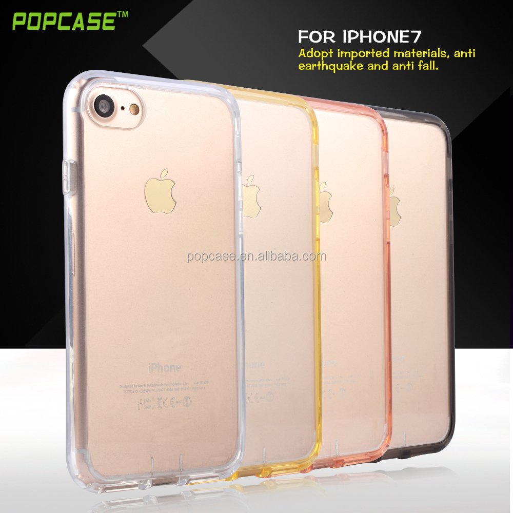 Best selling items mobile phone shell for apple, ultra thin transparent crystal tpu+pc hard phone case cover for iphone 7