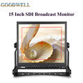 "Made in China Desktop 15"" 1024x768 SDI Broadcast Monitor W/ Battery Plate and Sun Shade under Sunline"