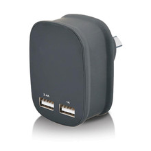 DC 5V 3.4A SAA certified travel charger dual usb wall charger au saa charger with CE SAA FCC ROHS