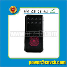 2 colors lights rocker switches,Marine car boat DC 12V accessory rocker switch 3 position rotary switch