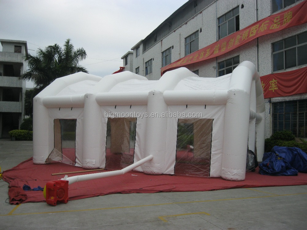 white Color 210D Coated Nylon Inflatable Event Tent For Sale , Tent Inflatable Price