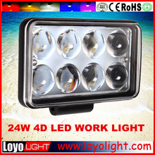 led light work 24w truck/offroad/tractor/trailer led work light,led headlight IP67 waterproof