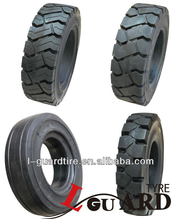 rubber solid tires for forklift , Tiers/ Pneus 4.00-8 5.00-8 6.00-9