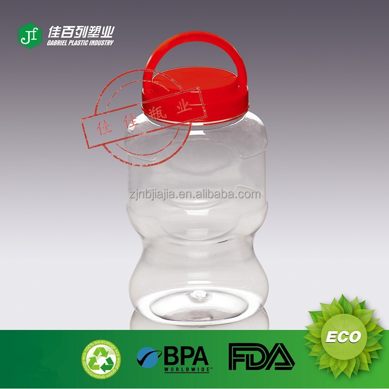 Food Grade Jar For Oil Pickle Candy Rice packing Clear Jar Pet Food Packing Plastic PET Jar