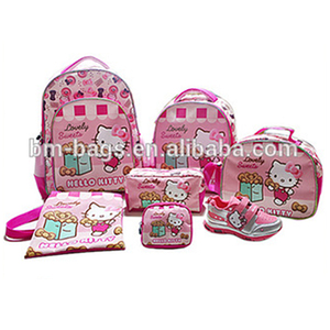 42185516347a China suppliers children school backpack Hello Kitty school bag