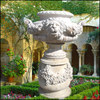 Garden Decoration Carved Flower Pot Statue