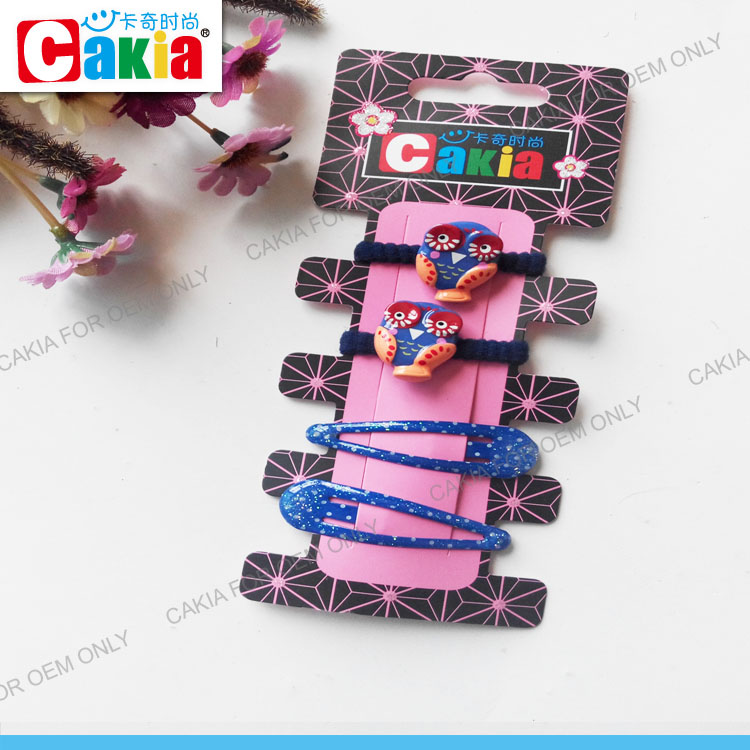 Wholesale China hair elastic and hiar clips accessories for women